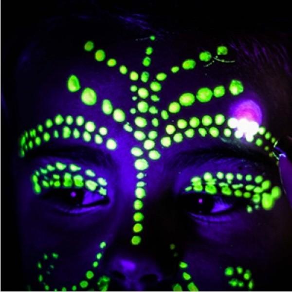 Fosforová barva na tělo a obličej 10ml, bodypainting