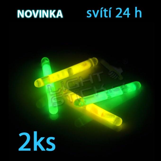 Svítící tyčinka 4cm, POWDER, 2ks