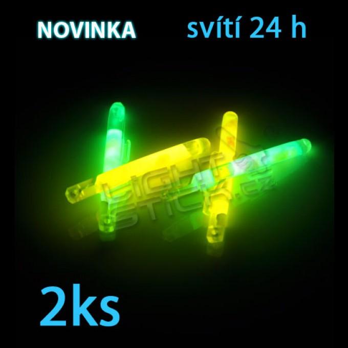 Svítící tyčinka 5 cm, POWDER, s klipsnou, 2ks
