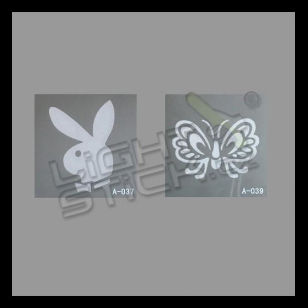Šablony na tetování 7,5x7,5, výběr šablon
