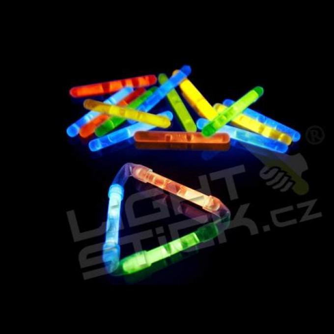Svítící tyčinka 80 ks, (chemické světlo) Lightstick MINI 4 cm, mix barev