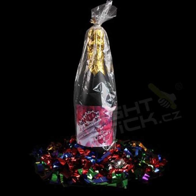 Vystřelovací konfety Šampaňské, metalické, 8-12 metrů
