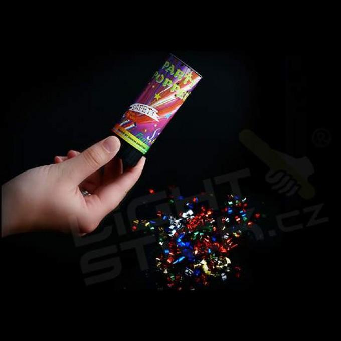 Vystřelovací konfety 10 cm, 2-5 metrů