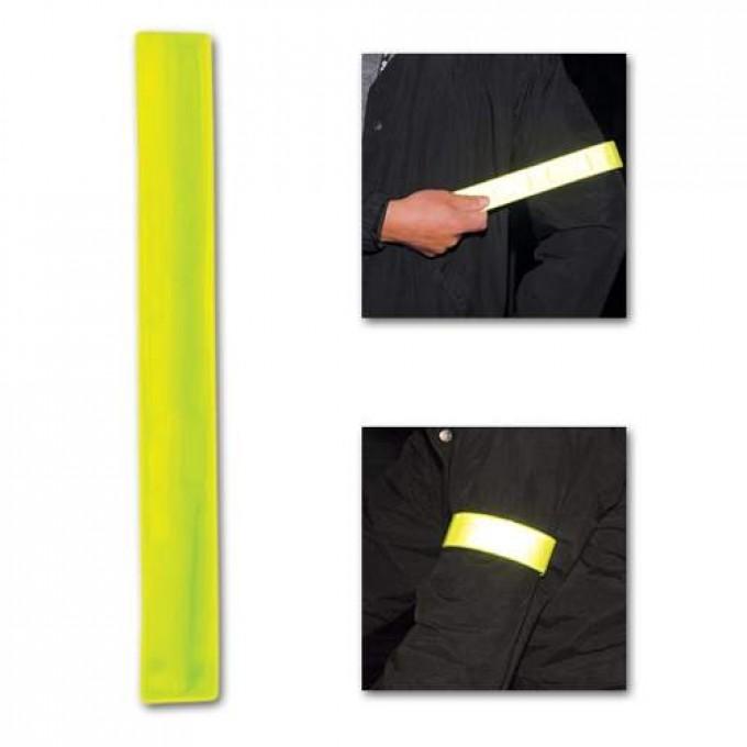 Rychloupínací reflexní náramek Roller Snap, žlutá