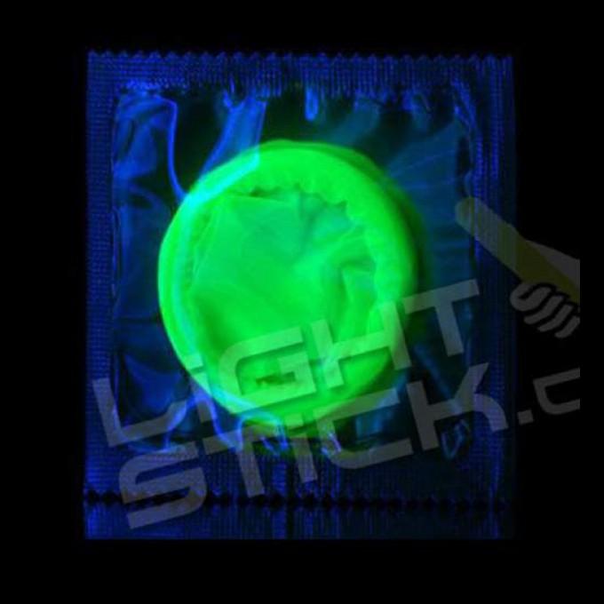 Svítící kondom 3ks  - LOVE LIGHT Glow in the dark