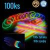 Svítící náramky 100ks, výběr barev