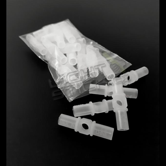 Spojky na náramky speciál, 25 kusů, se středovým otvorem