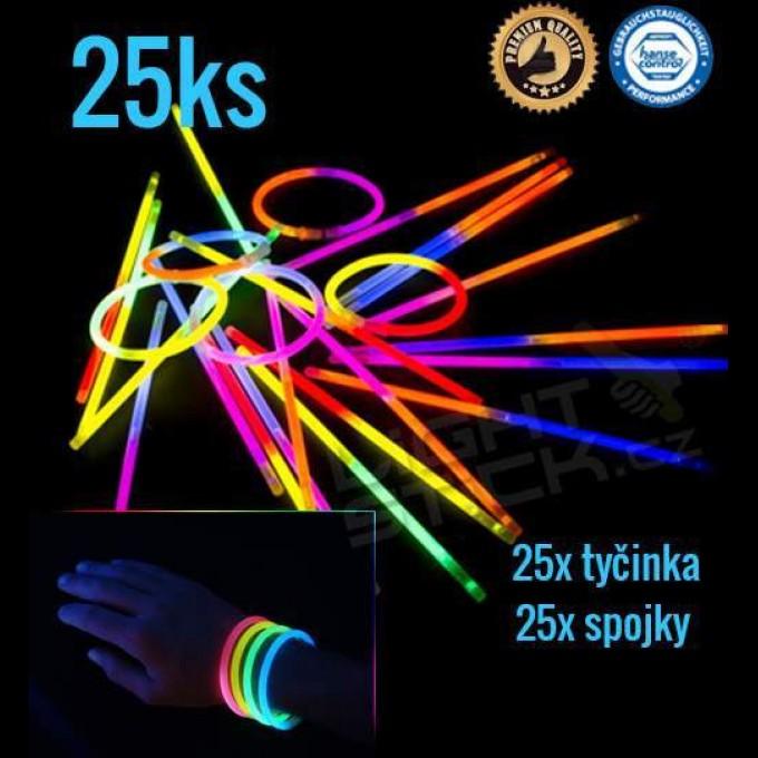 Svítící náramky 25ks, dvoubarevné