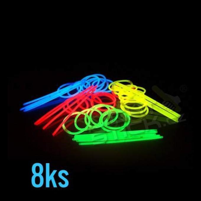 Svítící náramky - tyčinky,8ks, mix barev