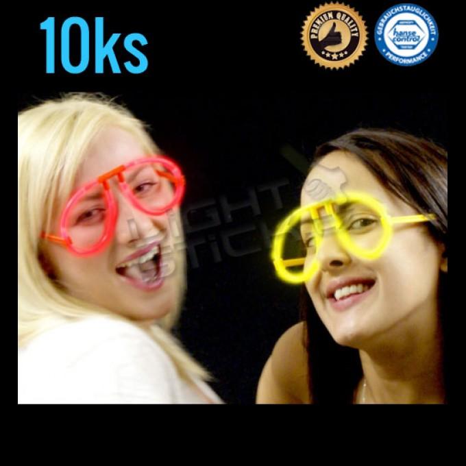 Svítící brýle, 10ks spojek