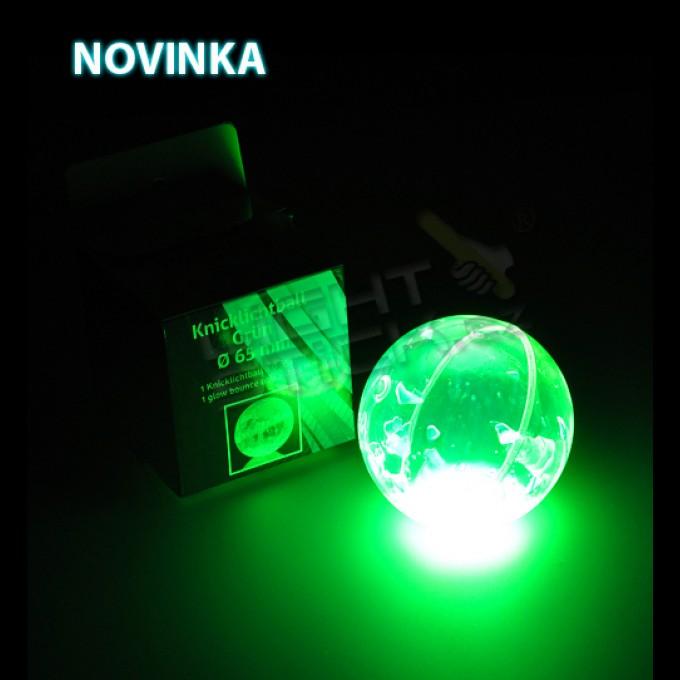 Svítící míč zelený Ø 6,5cm