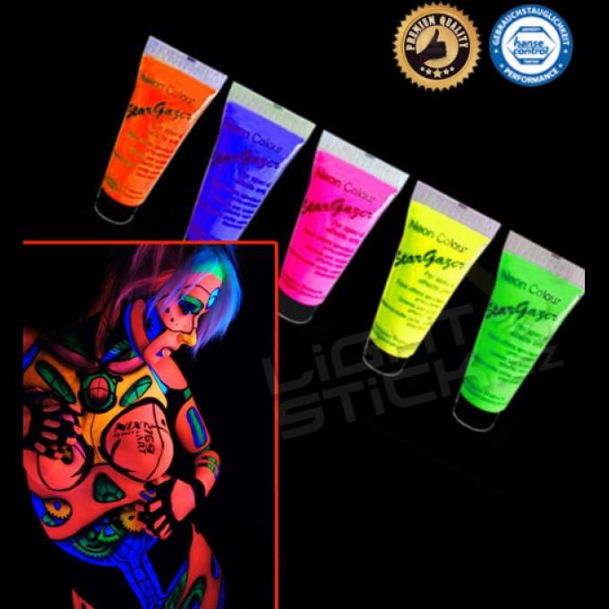 Barva na tělo a obličej 12ml,UV, bodypainting