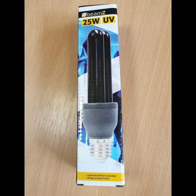 UV kompaktní zářivka 25W, černé světlo E27