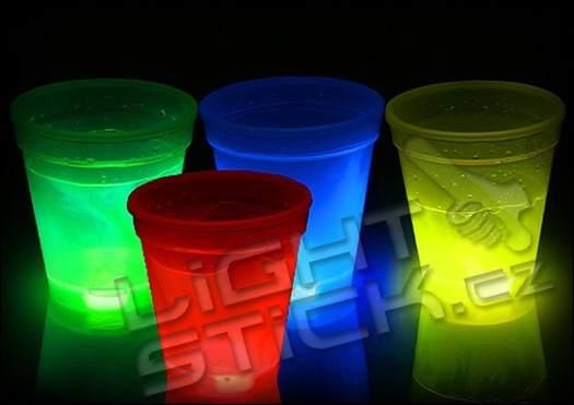 Svítící sklenička 300 ml - Zelená